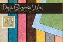 24 Seamless Dyed Sheepskin Textures