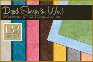 24 Seamless Dyed Sheepskin Textures