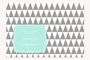 VECTOR & PSD Triangle tile & pattern