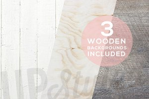 A179 Three Wooden Backgrounds