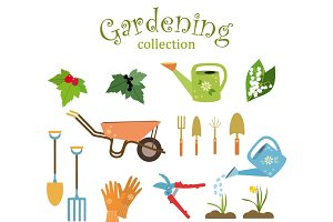 Gardening collection vector