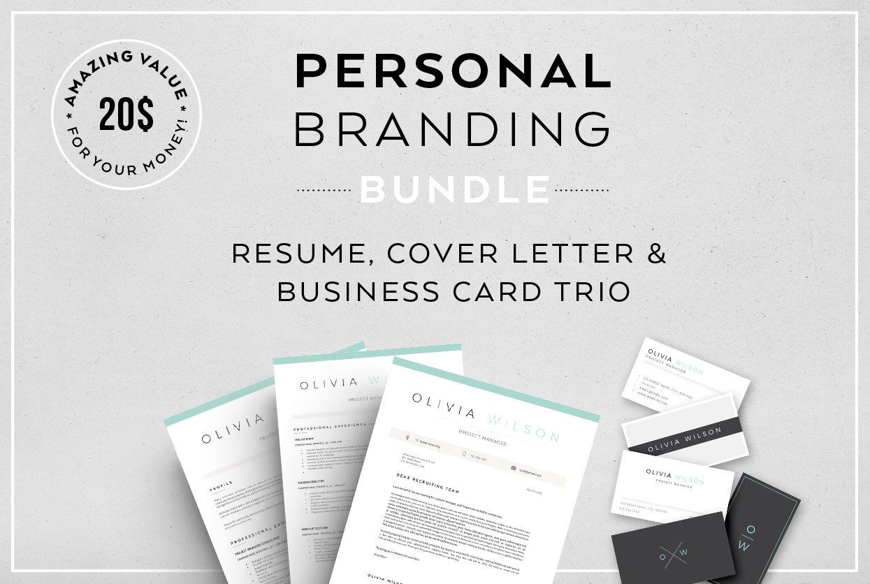 Resume Bundle-Personal branding ~ Resume Templates ~ Creative Market