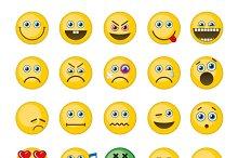 Emoji, emoticons vector icons
