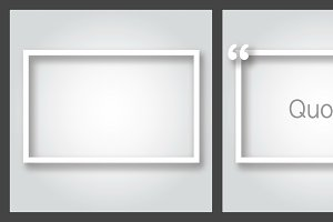 Empty paper frame. Vector file