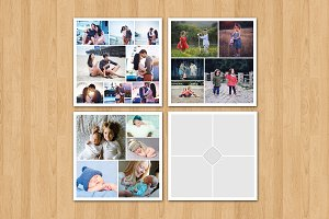 20x20 Photo Collage Template-V313