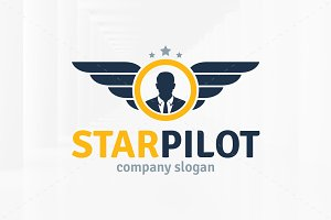 Star Pilot Logo Template