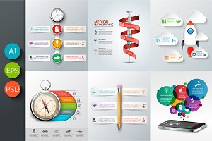 Business infographic templates v4