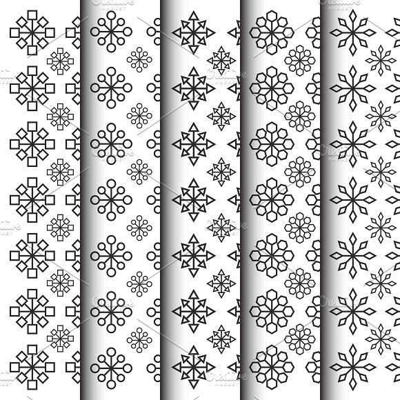 geometric flower shape pattern set graphic patterns creative market