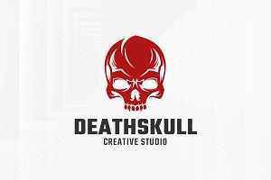 Death Skull Logo Template