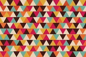retro triangle seamless pattern