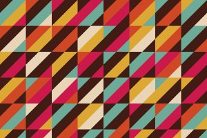 retro square pattern