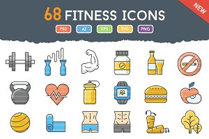 68 Funky Fitness Icons