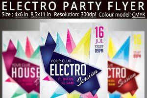 Electro House Party Flyer Poster