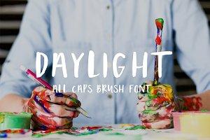 Daylight brush font