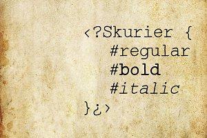Skurier - 3 fonts