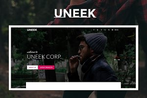 Uneek - Clean Blog/Portfolio Theme