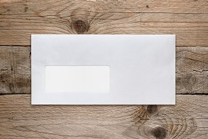 Blank envelope with address window