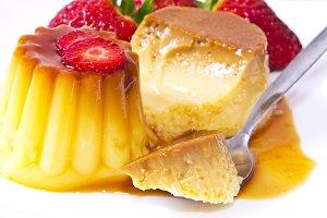 dessert, flan