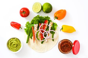 Mexican fajitas ingredients