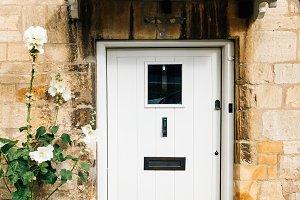 White painted door