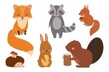 Set of illustration animals