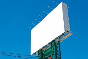 Blank billboard for advertisement.