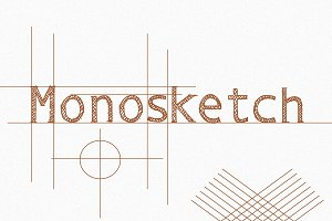 Monosketch - 3 fonts
