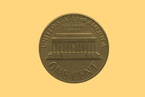 Coin isolated - vintage