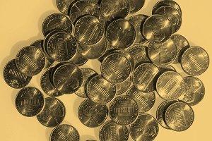 Dollar coins 1 cent - vintage