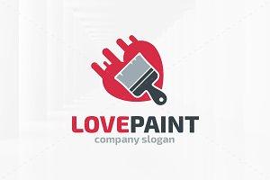 Love Paint Logo Template