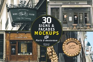 30 Signs & Facades - Paris/Amsterdam