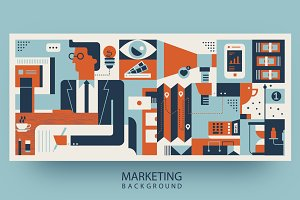 Marketing abstract background