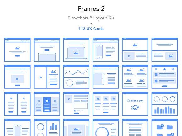 Frames 2 Flowchart Layout Kit Web Elements Creative Market