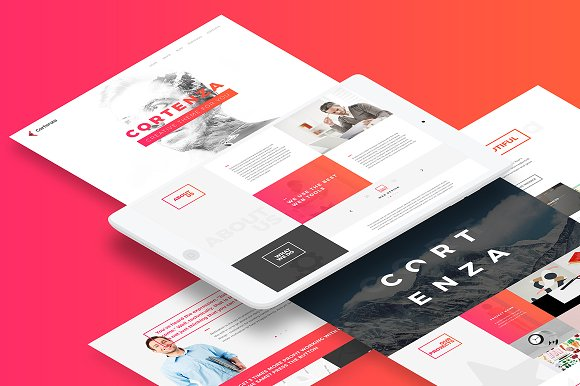 Cortenza - Creative Agency PSD in Landing Page Templates - product preview 1