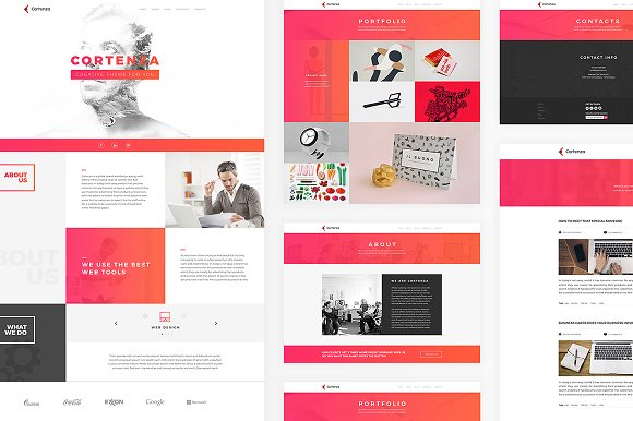 Cortenza - Creative Agency PSD in Landing Page Templates - product preview 2