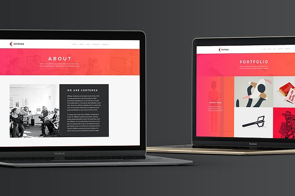 Cortenza - Creative Agency PSD in Landing Page Templates - product preview 3
