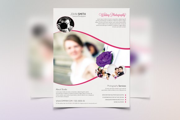 Wedding Flyer TemplateV Flyer Templates Creative Market - Wedding brochure template