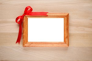 Photo frame with bow