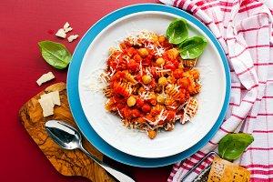 Healthy vegetarian Italian pasta