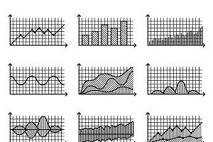 Line graphs and charts