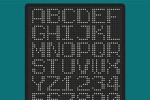 Uppercase pixel font