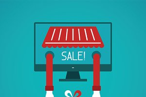 Online sale concept