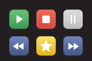 Multimedia icons. Vector