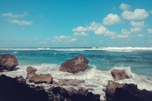 Stones in the ocean