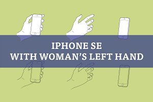Woman's left hand with iPhone SE