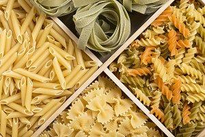 Set of italian pasta