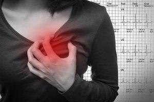 Women heart attack