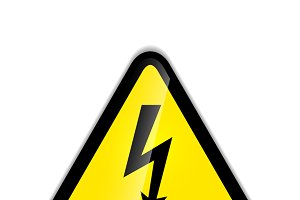 Bright high voltage sign