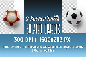2 Soccer Balls as Isolated Objects