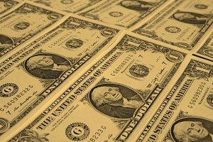Dollar notes 1 Dollar - vintage